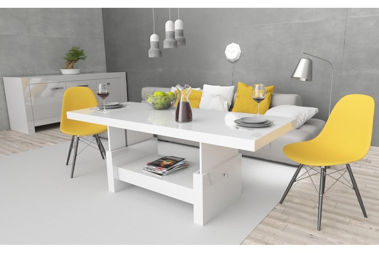 design couchtisch h 111 wei hochglanz schublade. Black Bedroom Furniture Sets. Home Design Ideas