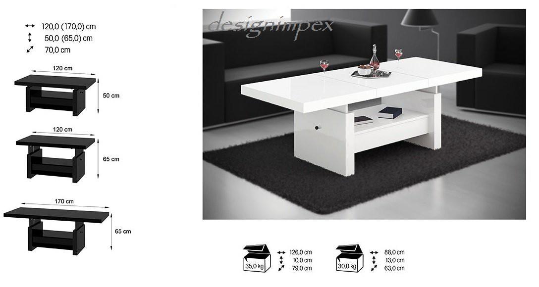 design couchtisch h 111 wei hochglanz schublade h henverstellbar. Black Bedroom Furniture Sets. Home Design Ideas
