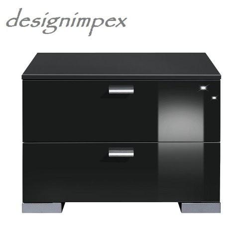 design nachtkonsole nachtkommode nachttisch gallary a 1 schwarz hochglanz arte m nachttische. Black Bedroom Furniture Sets. Home Design Ideas
