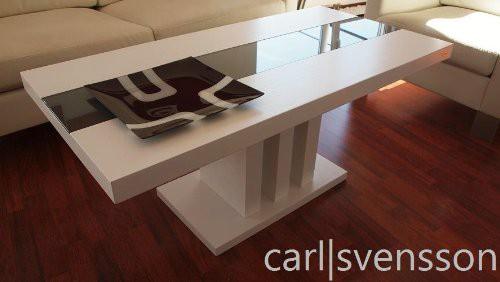 Design Esstisch Weiß Glas Carl Svensson ~ DESIGN COUCHTISCH S444 weiß getöntes Glas Carl Svensson Tisch NEU