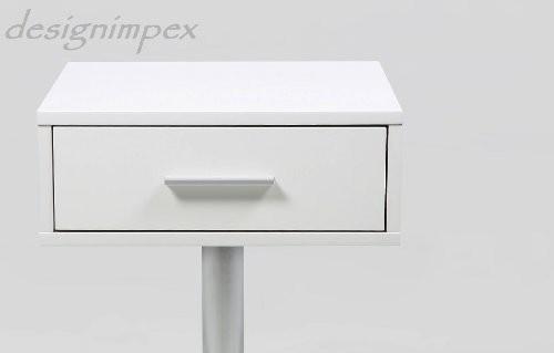 bild 4 design nachttisch boxspringbett nachtkommode co 1 wei matt. Black Bedroom Furniture Sets. Home Design Ideas