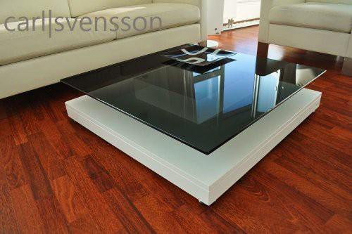 Design Esstisch Weiß Glas Carl Svensson ~ DESIGN COUCHTISCH Tisch weiß weiss V570 getöntes Glas Carl Svensson