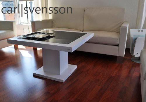 Design Esstisch Weiß Glas Carl Svensson ~ DESIGN COUCHTISCH Tisch S360 weiß getöntes Glas Carl Svensson NEU