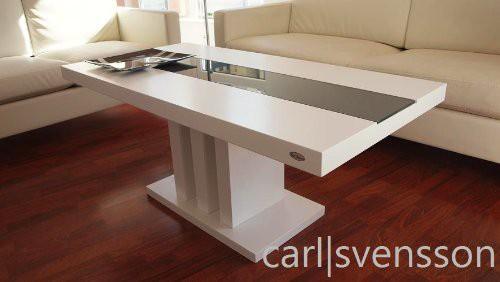 Design couchtisch s 444 wei get ntes glas carl svensson for Couchtisch 56 cm hoch