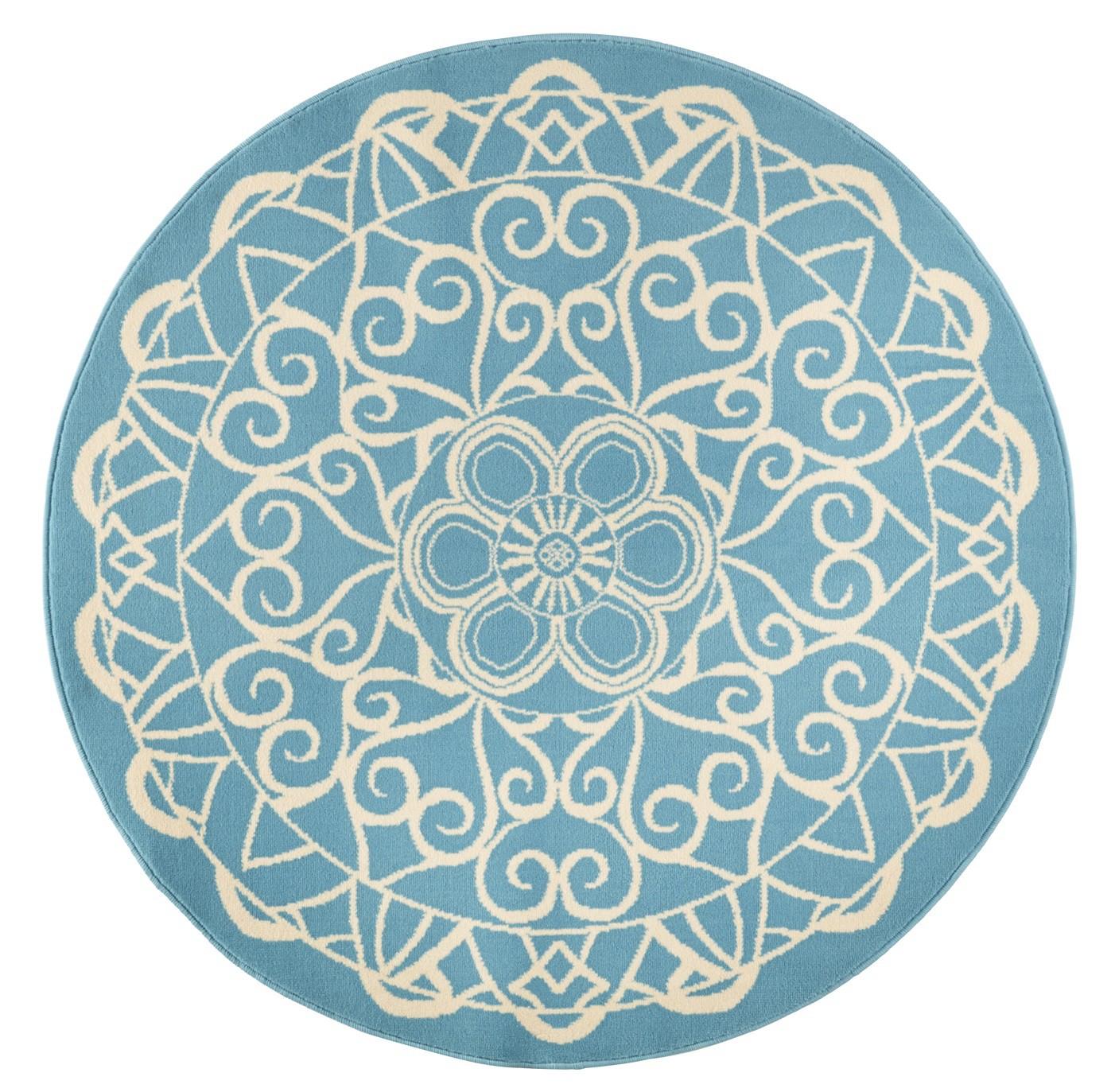 design velours teppich orientalisch cm 14 blau t rkis rund 140 cm teppiche design trend teppiche. Black Bedroom Furniture Sets. Home Design Ideas
