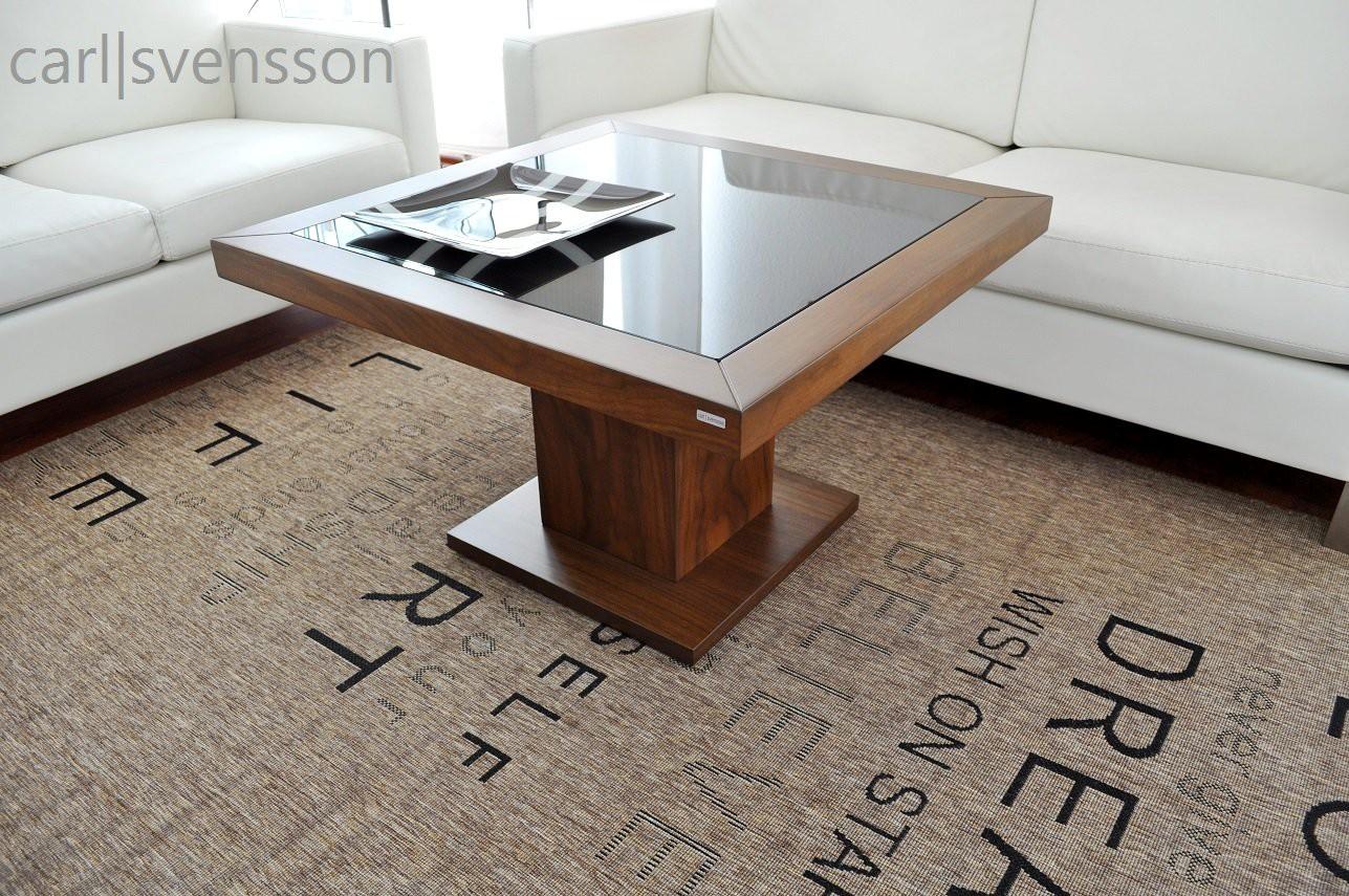 design couchtisch s 360 walnuss nussbaum get ntes glas carl svensson couchtische nussbaum. Black Bedroom Furniture Sets. Home Design Ideas