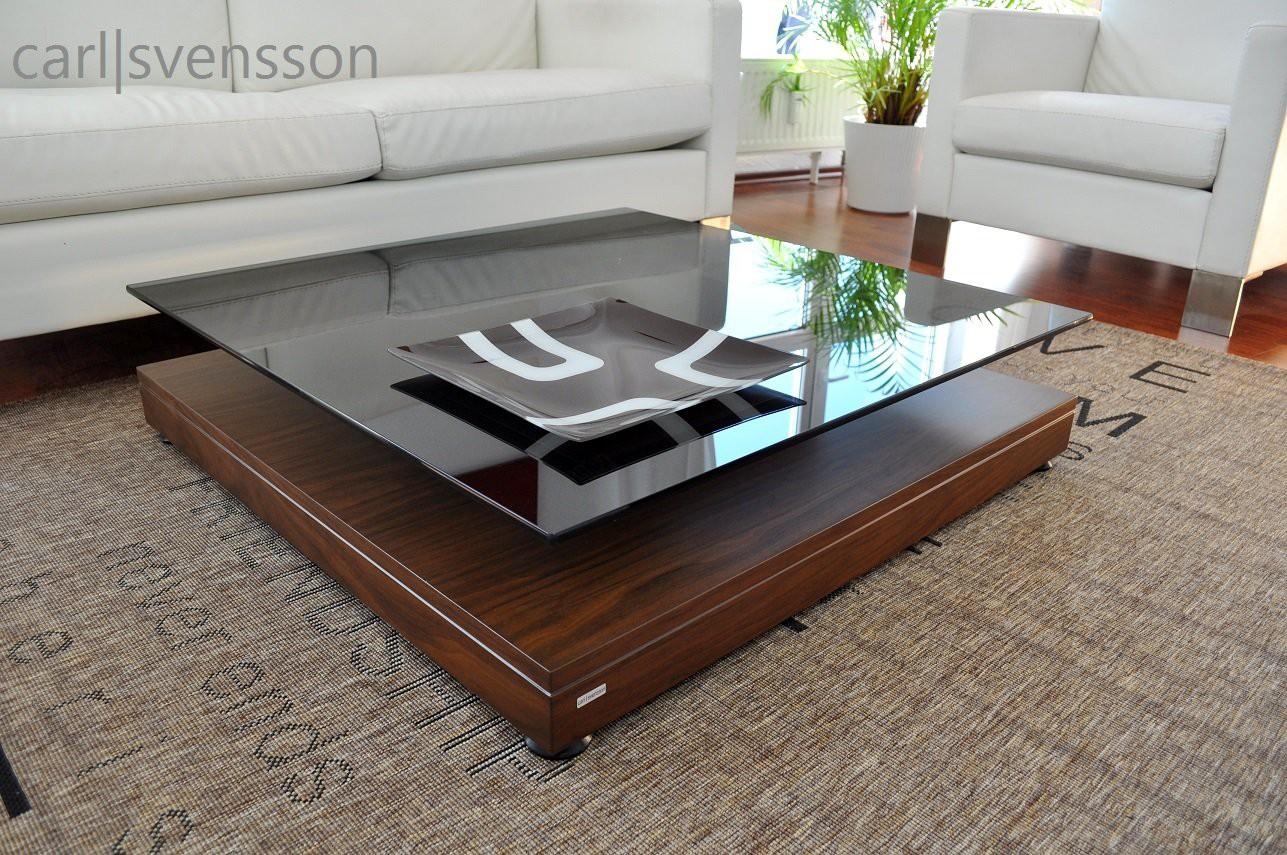 design couchtisch v 570 walnuss nussbaum get ntes glas carl svensson couchtische nussbaum. Black Bedroom Furniture Sets. Home Design Ideas