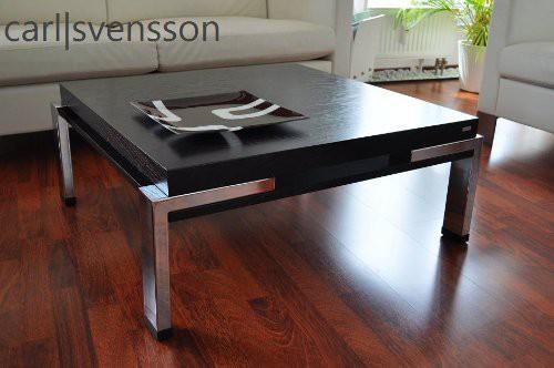 Design couchtisch carl svensson k 222 schwarz chrom tisch for Design tisch schwarz