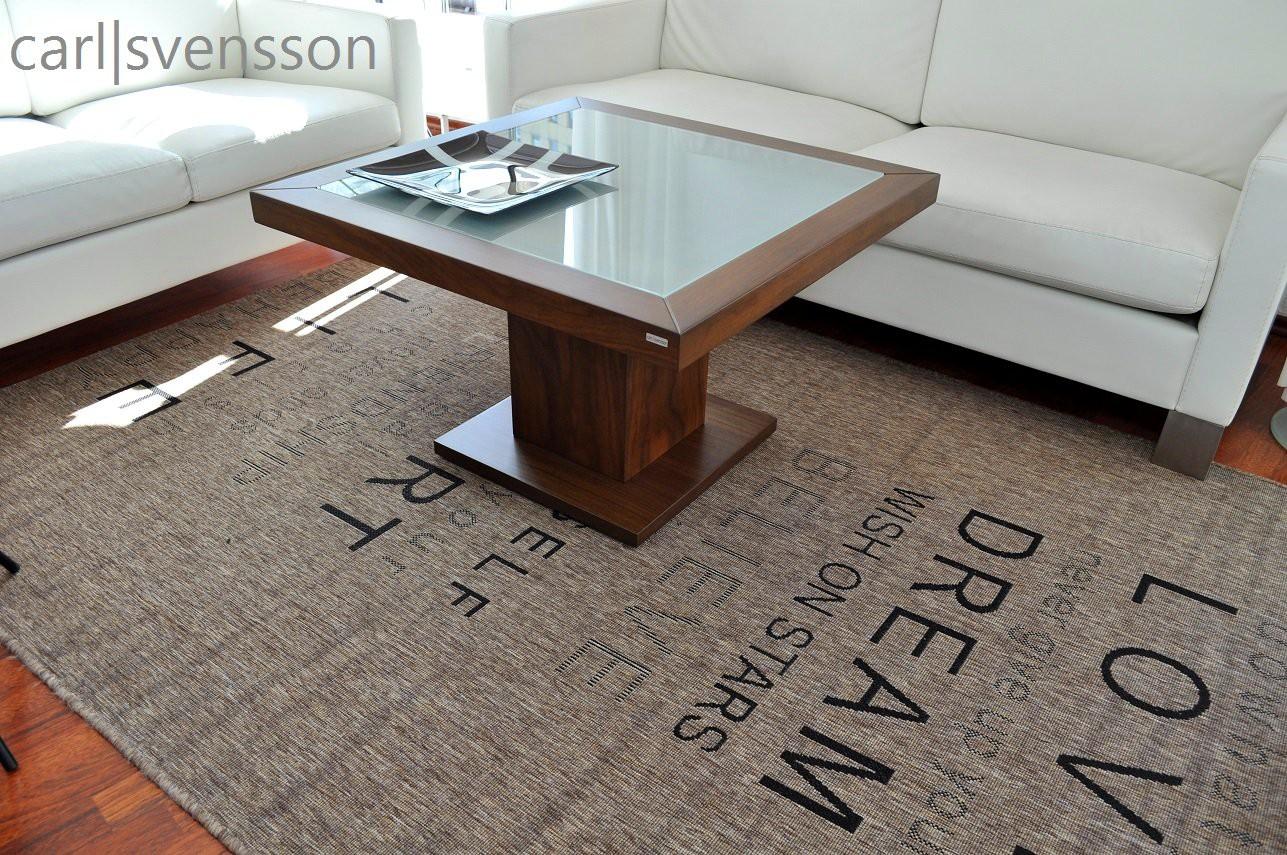 design couchtisch s 360 walnuss nussbaum milchglas carl svensson couchtische nussbaum couchtische. Black Bedroom Furniture Sets. Home Design Ideas