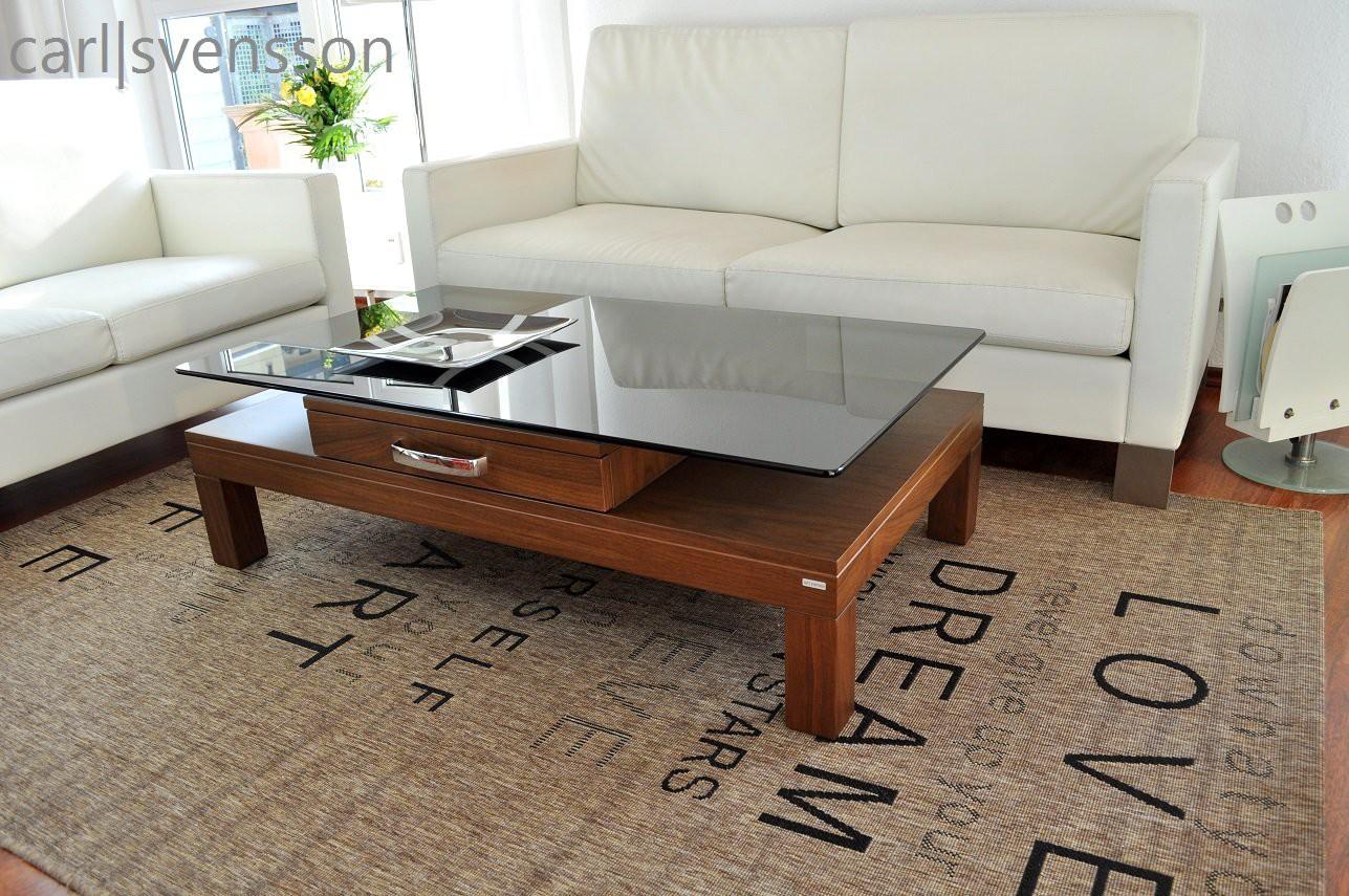 design couchtisch v 470h walnuss nussbaum get ntes glas carl svensson couchtische nussbaum. Black Bedroom Furniture Sets. Home Design Ideas