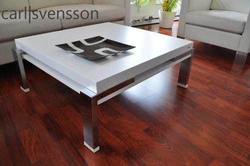 design couchtisch carl svensson k 222 wei chrom tisch couchtische wei e couchtische. Black Bedroom Furniture Sets. Home Design Ideas