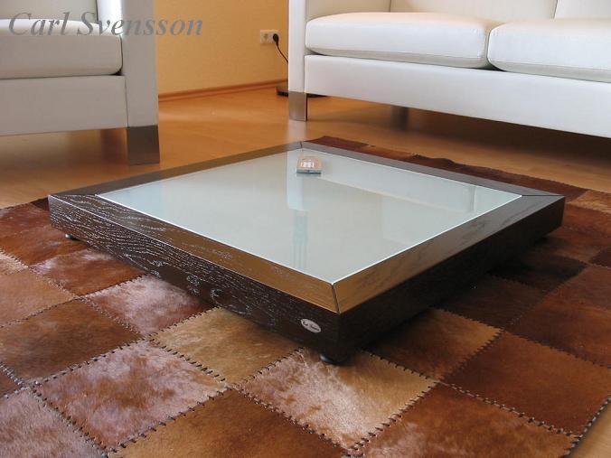 Design couchtisch tisch v 350 walnuss wenge milchglas for Couchtisch milchglas