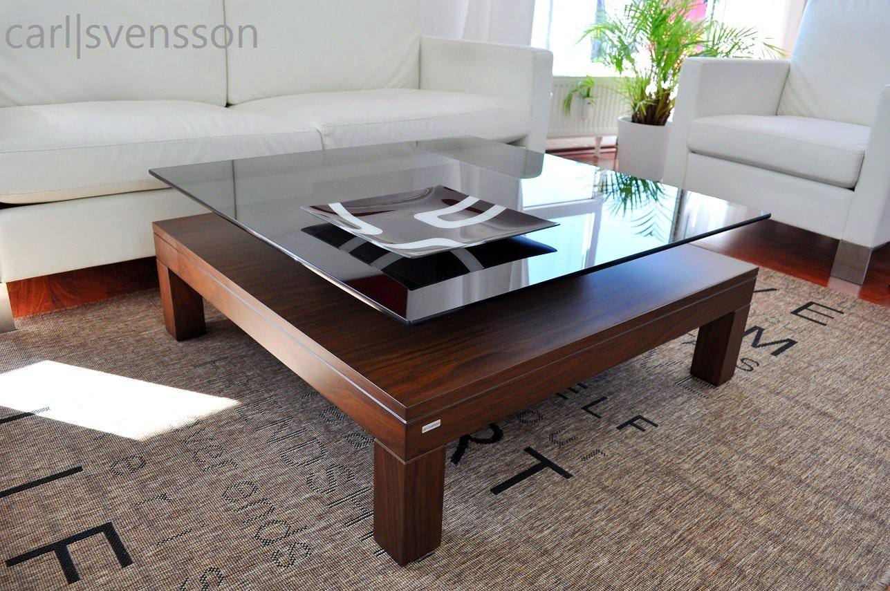 design couchtisch v 570h walnuss nussbaum get ntes glas. Black Bedroom Furniture Sets. Home Design Ideas
