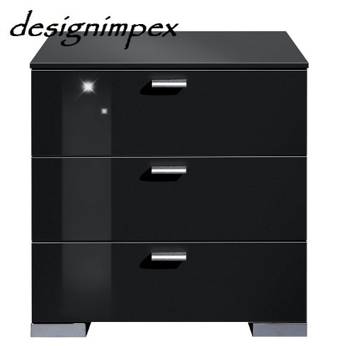 design nachtkommode nachttisch boxspringbett gallary a 2 schwarz hochglanz arte m nachttische. Black Bedroom Furniture Sets. Home Design Ideas