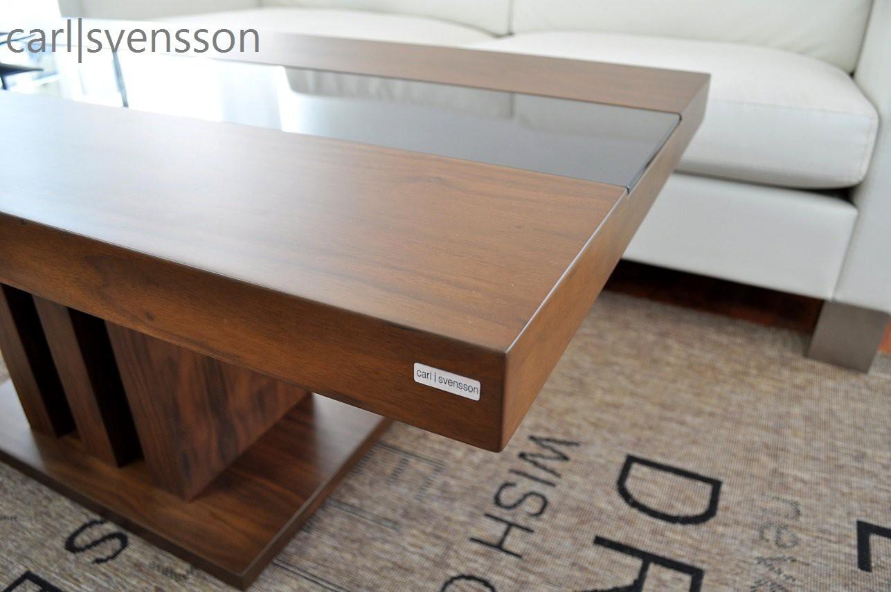 design couchtisch s 444 walnuss nussbaum get ntes glas carl svensson couchtische nussbaum. Black Bedroom Furniture Sets. Home Design Ideas
