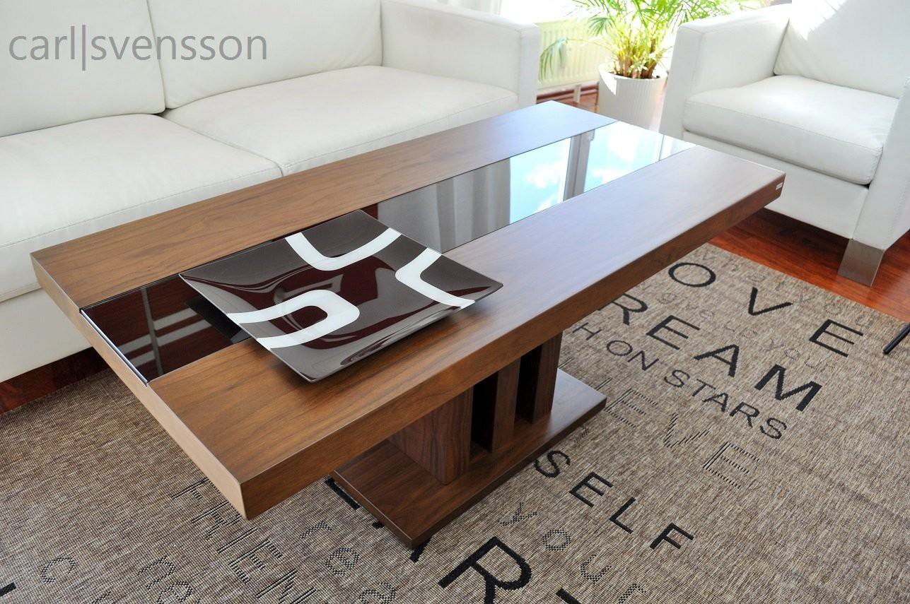 design couchtisch s 444 walnuss nussbaum get ntes glas. Black Bedroom Furniture Sets. Home Design Ideas