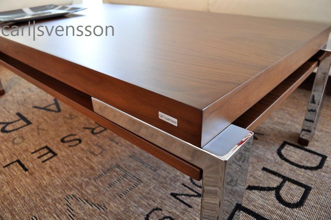 design couchtisch k 111 walnuss nussbaum chrom carl. Black Bedroom Furniture Sets. Home Design Ideas