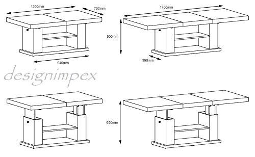 design couchtisch hn 777 schwarz grau hochglanz. Black Bedroom Furniture Sets. Home Design Ideas