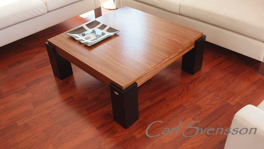 DESIGN COUCHTISCH Tisch N555 Zebrano  schwarz Carl
