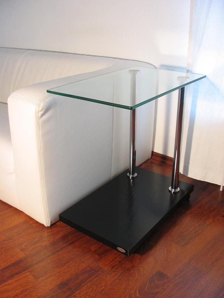 Design beistelltisch ecktisch v 270 schwarz glas carl for Beistelltisch design glas