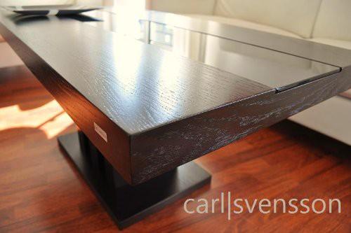 design couchtisch s 444 walnuss wenge get ntes glas carl svensson couchtische walnuss wenge. Black Bedroom Furniture Sets. Home Design Ideas