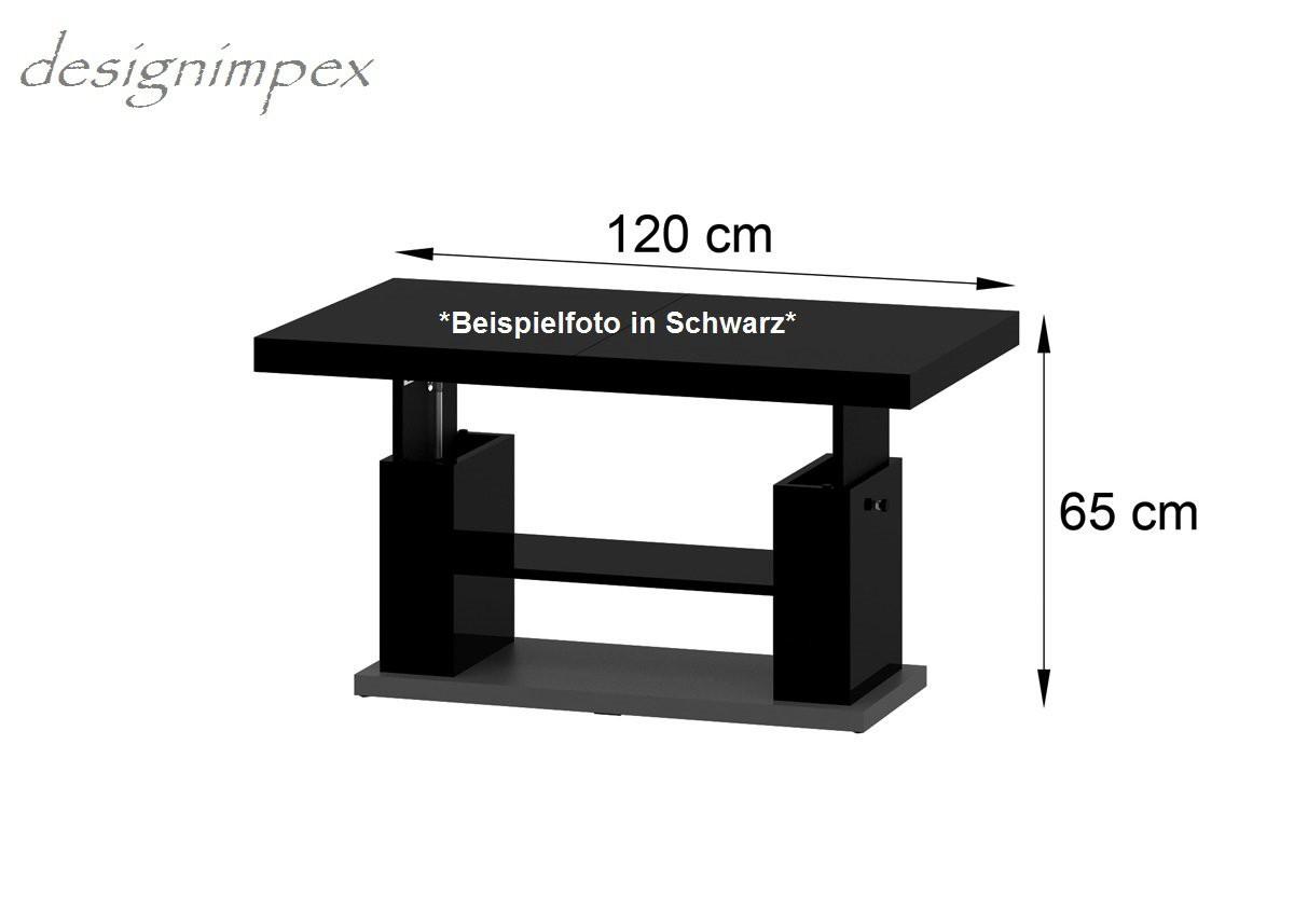 couchtisch hn 777 wei grau hochglanz h henverstellbar ausziehbar. Black Bedroom Furniture Sets. Home Design Ideas