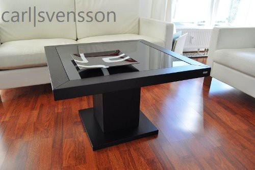 design couchtisch s 360 schwarz get ntes glas carl svensson neu couchtische schwarze couchtische. Black Bedroom Furniture Sets. Home Design Ideas