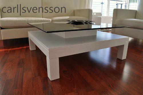 Design Esstisch Weiß Glas Carl Svensson ~ DESIGN COUCHTISCH Tisch V570H weiß getöntes Glas Carl Svensson NEU