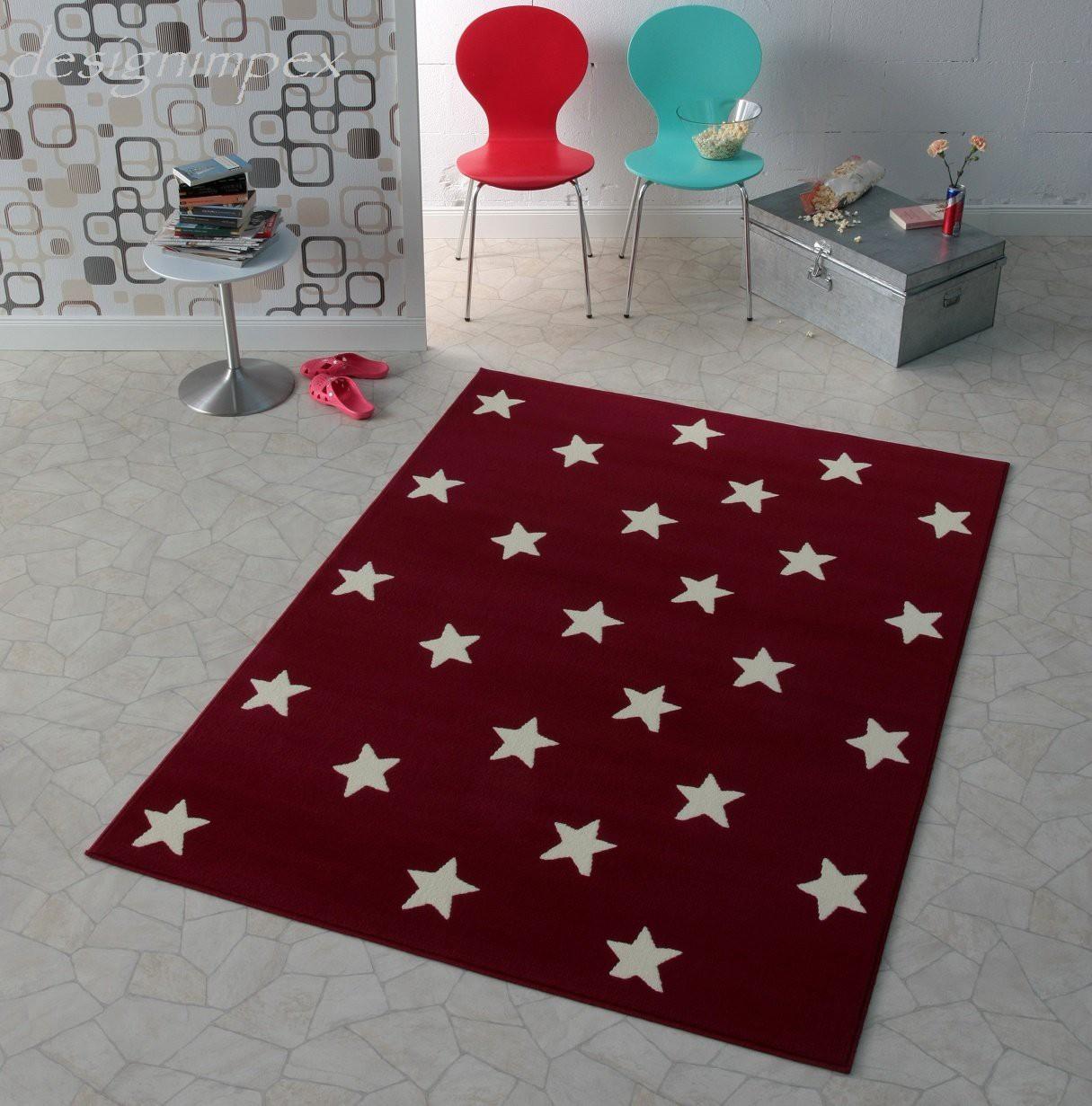 trend teppich stern sterne rot 140 x 200 cm tn 11 neu teppiche design trend teppiche. Black Bedroom Furniture Sets. Home Design Ideas