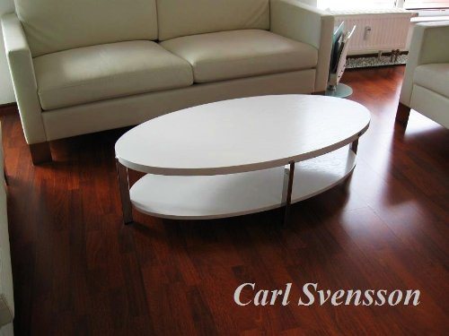 design couchtisch o 111 wei weiss oval carl svensson neu tisch couchtische wei e couchtische. Black Bedroom Furniture Sets. Home Design Ideas