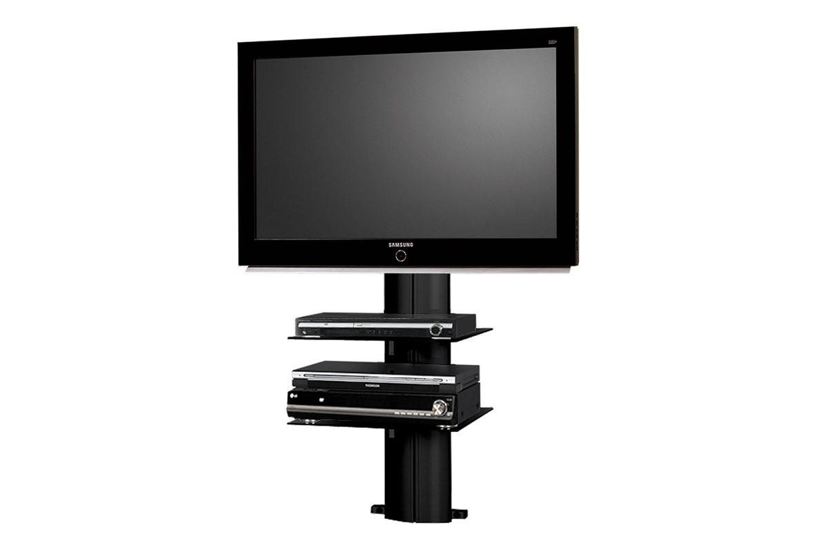 tv wand hn 333 schwarz hochglanz tv rack lcd inkl tv. Black Bedroom Furniture Sets. Home Design Ideas