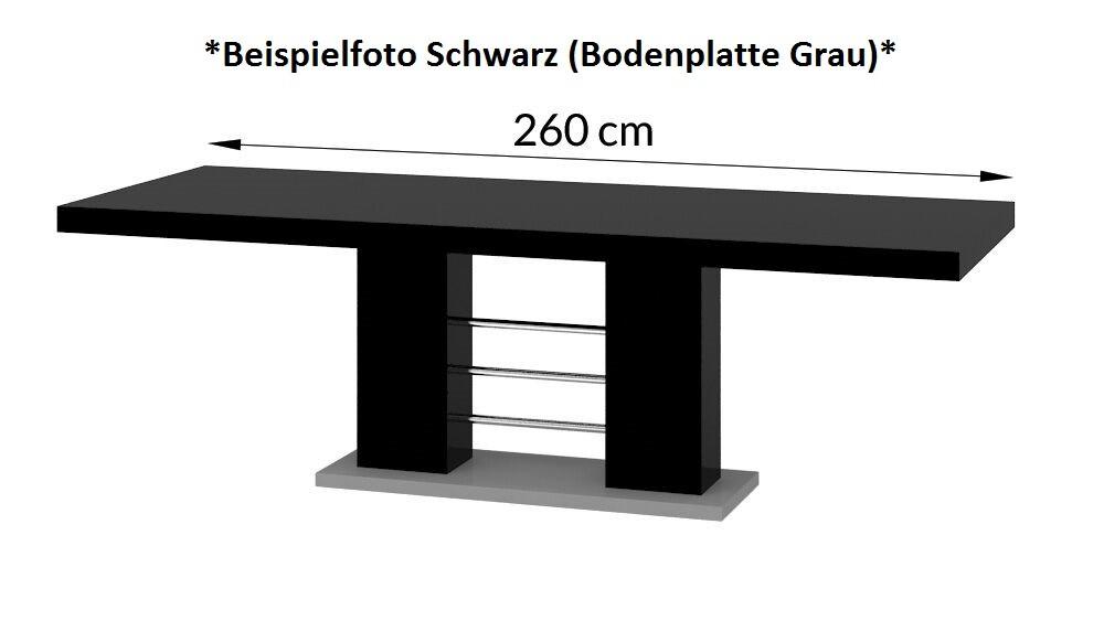 design esstisch he 111 cappuccino nussbaum hochglanz ausziehbar 160 260 cm hochglanzm bel. Black Bedroom Furniture Sets. Home Design Ideas