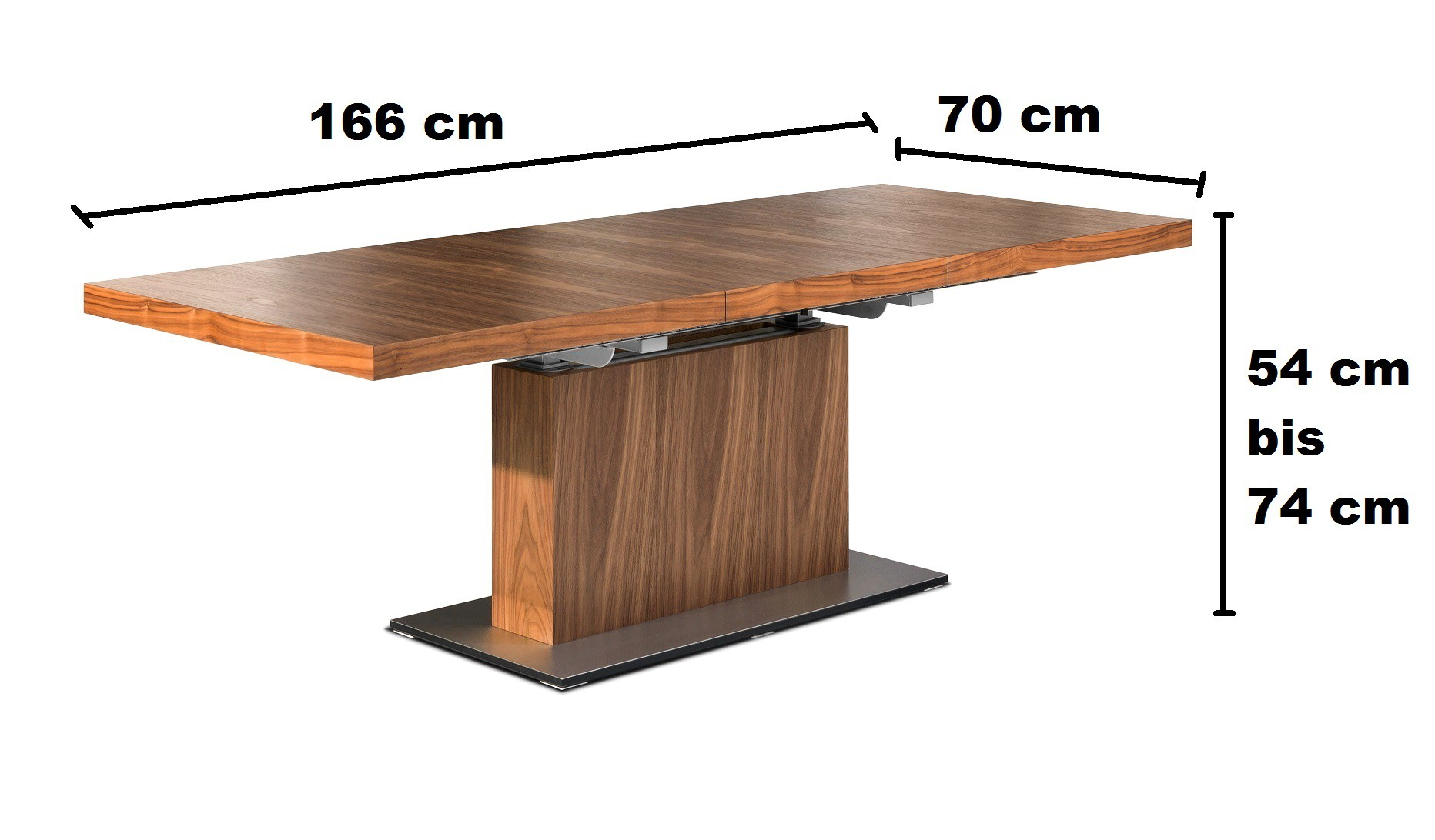 design couchtisch tisch mn 7 walnuss nussbaum h henverstellbar ausziehbar couchtische nussbaum. Black Bedroom Furniture Sets. Home Design Ideas