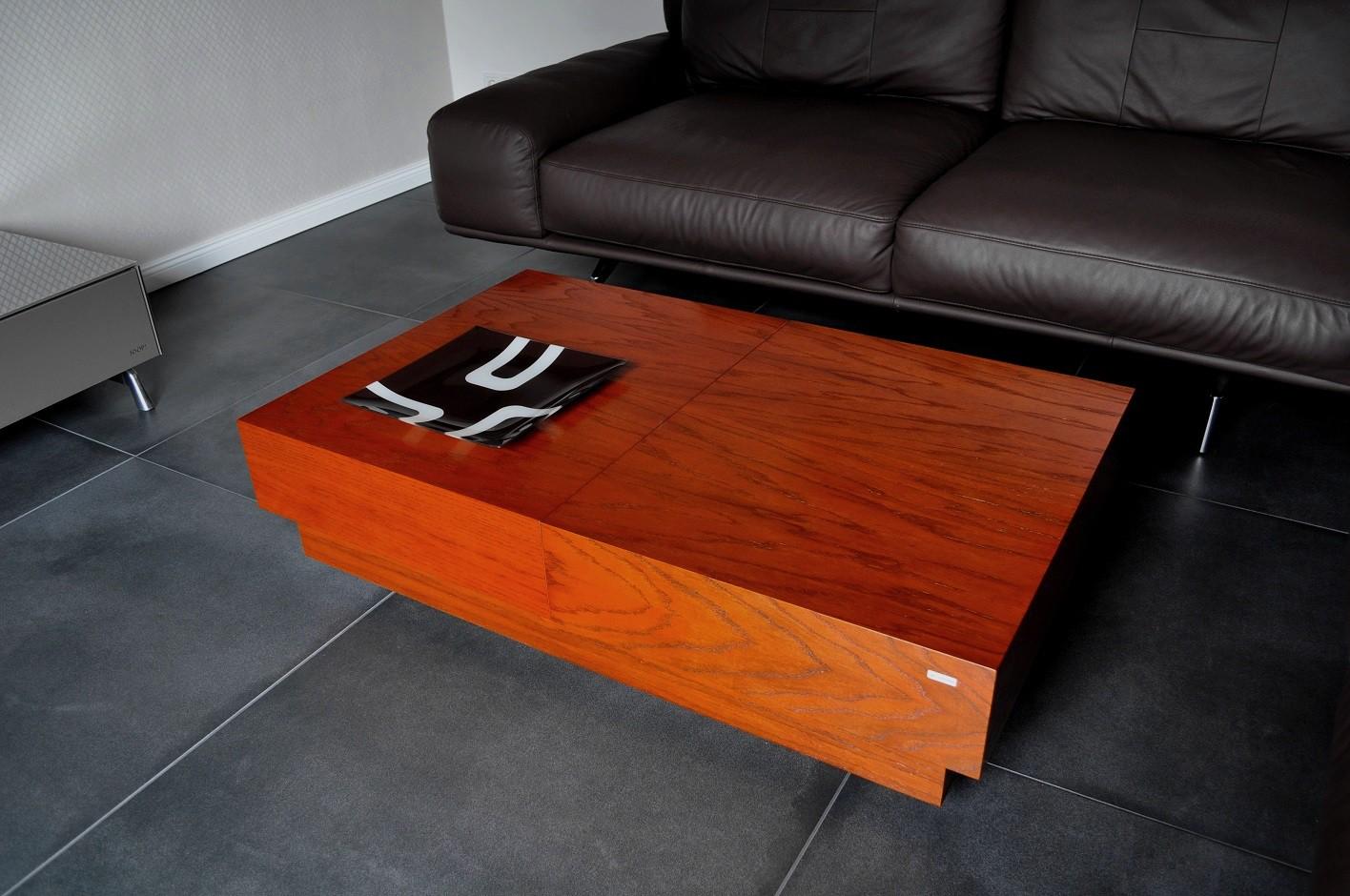 Design couchtisch s 70 kirschbaum schublade stauraum carl for Design couchtisch s 360