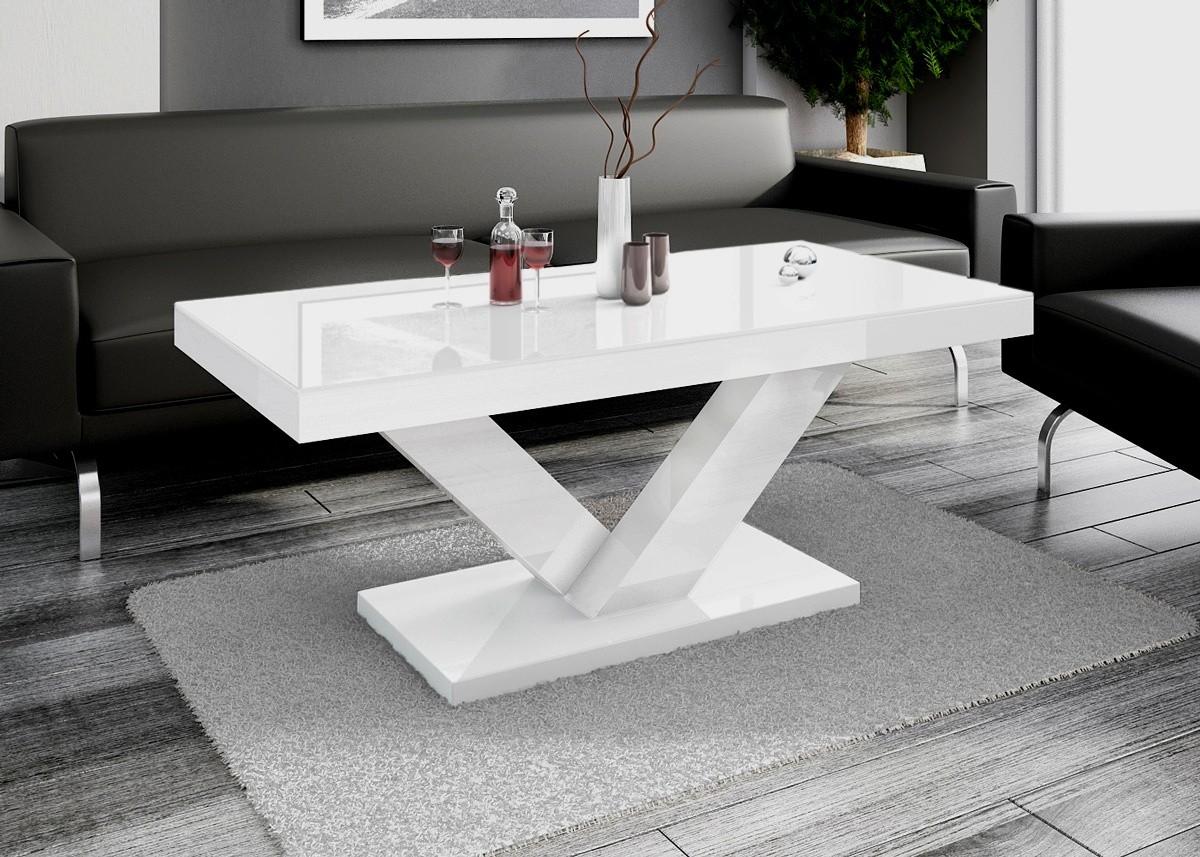 Design couchtisch hv 888 wei hochglanz highgloss tisch for Designer tisch weiss