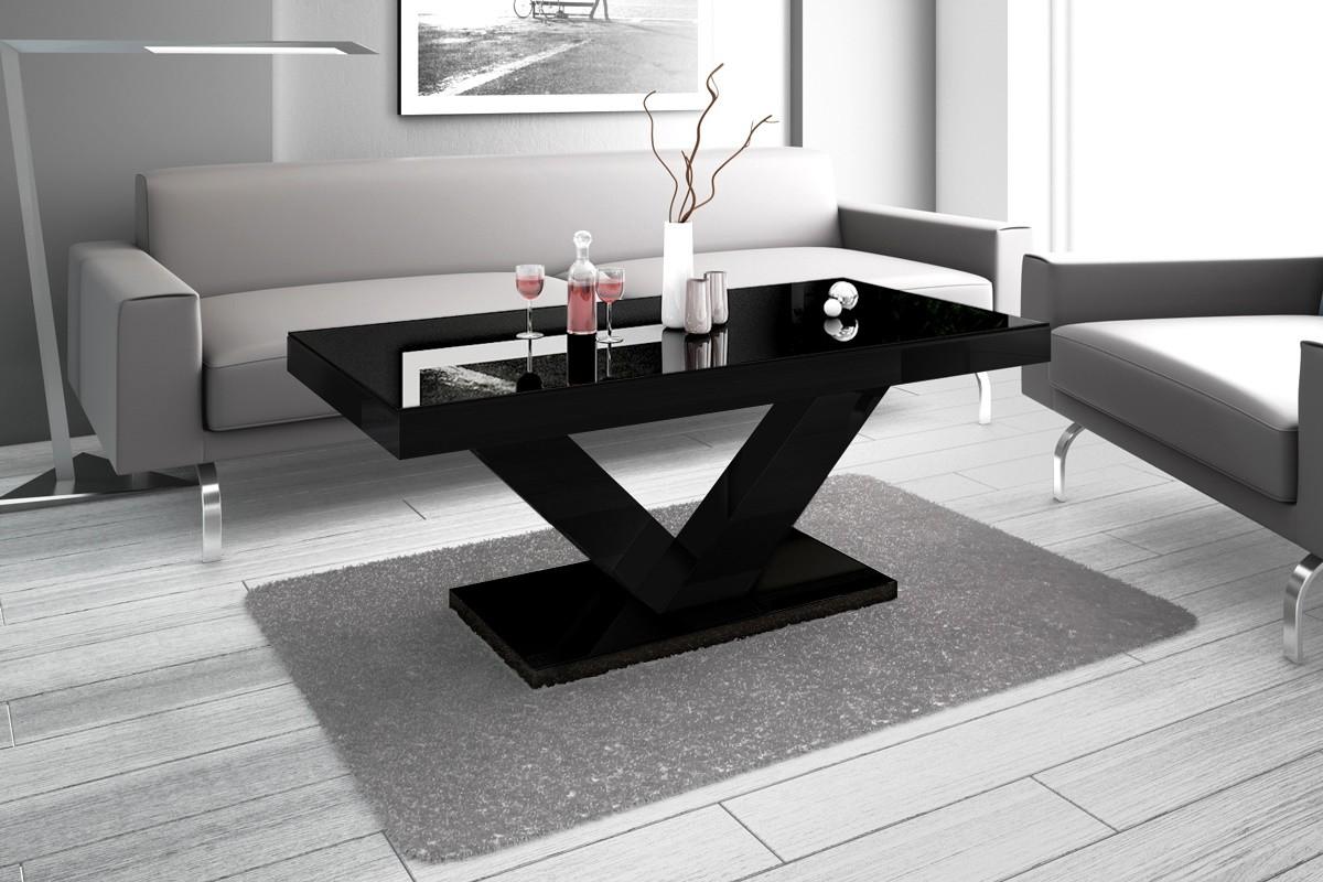 Design Couchtisch HV 888 Schwarz Hochglanz Highgloss Tisch