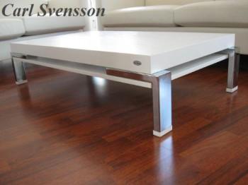design couchtisch k 111 wei chrom carl svensson neu ebay. Black Bedroom Furniture Sets. Home Design Ideas