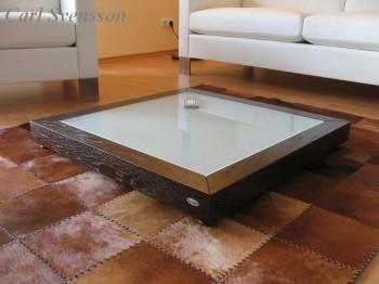 design couchtisch v 350 walnuss wenge glas carl svensson neu. Black Bedroom Furniture Sets. Home Design Ideas