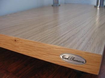 design beistelltisch eiche hell zebrano v 270 milchglas carl svensson tisch ebay. Black Bedroom Furniture Sets. Home Design Ideas