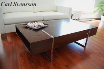 design couchtisch n 111 walnuss wenge chrom carl svensson neu. Black Bedroom Furniture Sets. Home Design Ideas