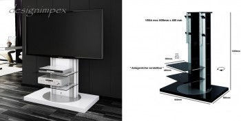 fernsehtisch h 777 wei hochglanz tv schrank tv m bel 360 drehbar tv halterung ebay. Black Bedroom Furniture Sets. Home Design Ideas