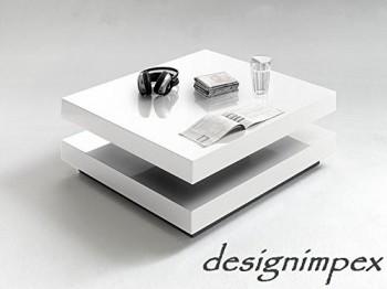 Design couchtisch g 555 wei hochglanz drehbar neu tisch for Designer couchtisch drehbar