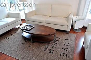 design couchtisch o 111 walnuss nussbaum oval carl svensson neu tisch ebay. Black Bedroom Furniture Sets. Home Design Ideas