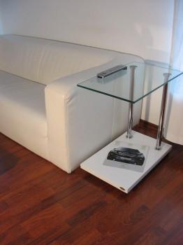 design beistelltisch v 270 wei glas carl svensson neu ebay. Black Bedroom Furniture Sets. Home Design Ideas