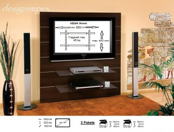 tv wand hn 111 walnuss wenge tv rack lcd inkl appen. Black Bedroom Furniture Sets. Home Design Ideas