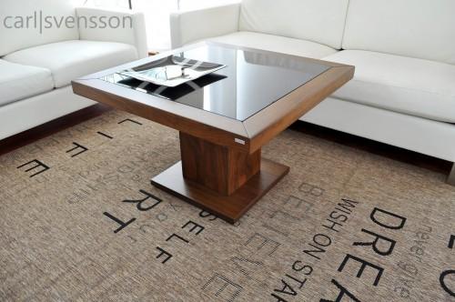 design couchtisch s 360 walnuss nussbaum get ntes glas carl svensson. Black Bedroom Furniture Sets. Home Design Ideas