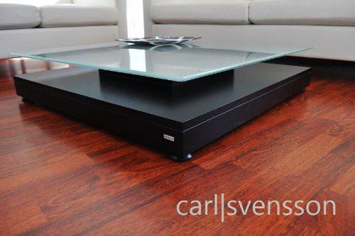design wohnzimmertisch:DESIGN COUCHTISCH Tisch V-570 schwarz Milchglas Carl Svensson NEU