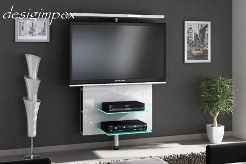 tv wand h 999 wei hochglanz drehbar tv rack lcd tv halterung led beleuchtungt ebay. Black Bedroom Furniture Sets. Home Design Ideas