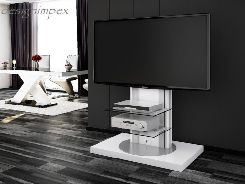 fernsehtisch h 777 wei hochglanz tv schrank tv m bel 360 drehbar tv halterung. Black Bedroom Furniture Sets. Home Design Ideas
