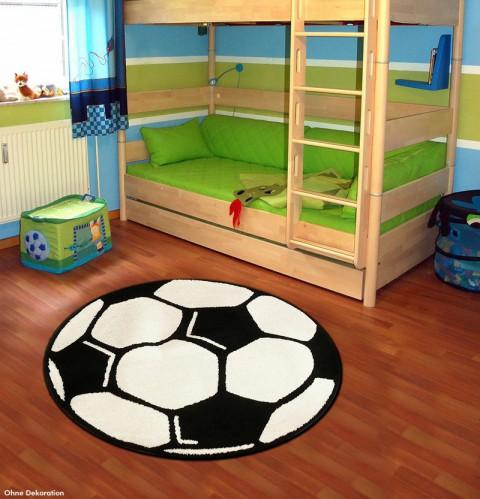 fu ball teppich kinderteppich spielteppich rund 100cm tn 17 neu ebay. Black Bedroom Furniture Sets. Home Design Ideas